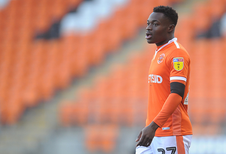 Blackpool's Marc Bola<br /> <br /> Photographer Kevin Barnes/CameraSport<br /> <br /> The EFL Sky Bet League One - Blackpool v Walsall - Saturday 9th February 2019 - Bloomfield Road - Blackpool<br /> <br /> World Copyright &copy; 2019 CameraSport. All rights reserved. 43 Linden Ave. Countesthorpe. Leicester. England. LE8 5PG - Tel: +44 (0) 116 277 4147 - admin@camerasport.com - www.camerasport.com