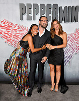 "LOS ANGELES, CA. August 28, 2018: Jennifer Garner, Annie Ilonzeh & Pierre Morel at the world premiere of ""Peppermint"" at the Regal LA Live."