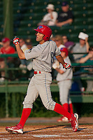 May 6 2010: Steve Susdorf (8) of the Clearwater Threshers during a game vs. the Daytona Cubs at Jackie Robinson Ballpark in Daytona Beach, Florida. Clearwater, the Florida State League High-A affiliate of the Philadelphia Phillies, won the game against Daytona, affiliate of the Chicago Cubs, by the score of 4-1.  Photo By Scott Jontes/Four Seam Images