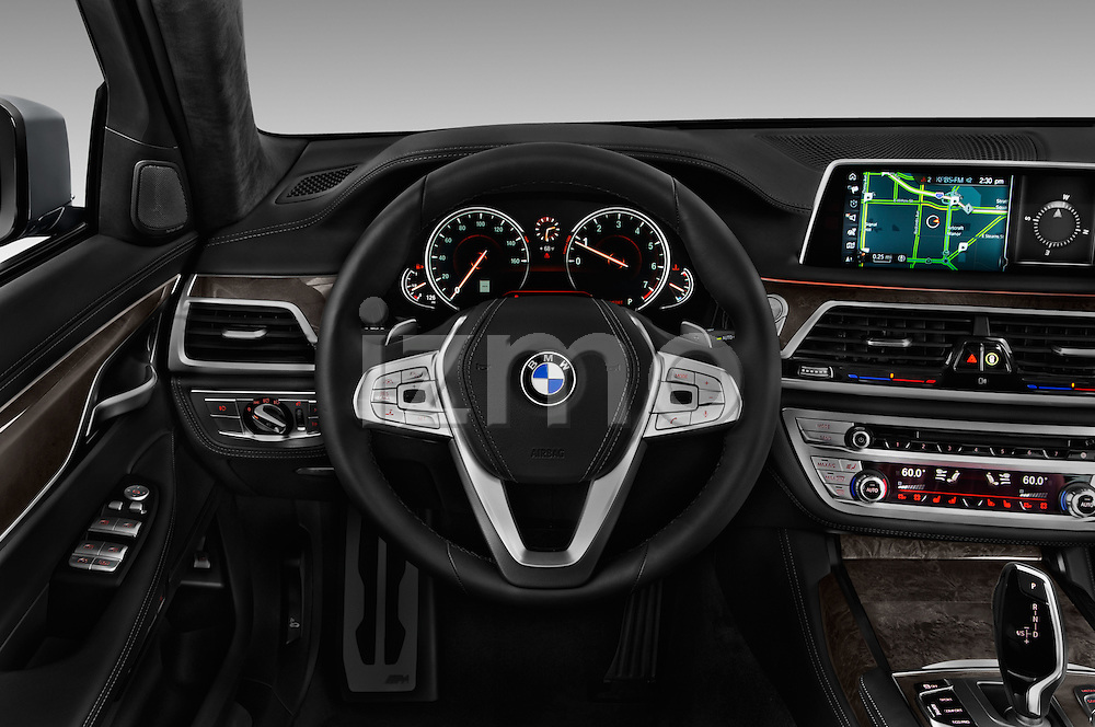 Car pictures of steering wheel view of a 2016 BMW 7 Series M Sport 4 Door Sedan Steering Wheel