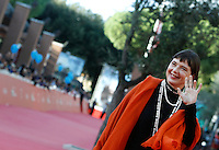 L'attrice italiana Isabella Rossellini posa sul red carpet per la presentazione del 'Tributo a Ingrid Bergman' durante il Festival Internazionale del Film di Roma, 16 ottobre 2015.<br /> Italian actress Isabella Rossellini poses on the red carpet to present the 'Tribute to Ingrid Bergman' during the international Rome Film Festival at Rome's Auditorium, 16 October 2015.<br /> UPDATE IMAGES PRESS/Isabella Bonotto