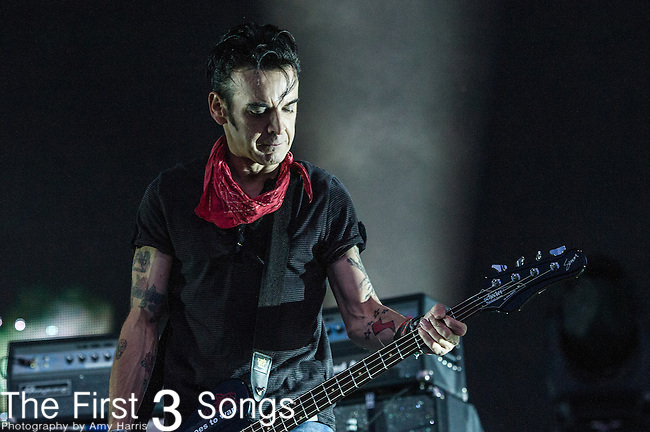 Simon Gallup of The Cure performs at the 2nd Annual BottleRock Napa Festival at Napa Valley Expo in Napa, California.