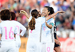 (R-L) Yuki Ogimi, Emi Nakajima (JPN), JUNE 2, 2016 - Football / Soccer : Yuki Ogimi of Japan celebrates after scoring their 2nd goal during the Women's International Friendly match between United States 3-3 Japan at Dick's Sporting Goods Park in Commerce City, Colorado, United States. (Photo by AFLO)