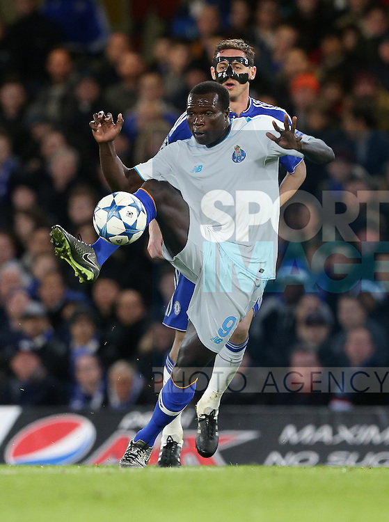 Porto's Vincent Aboubakar in action<br /> <br /> UEFA Champions League - Chelsea v FC Porto - Stamford Bridge - England - 9th December 2015 - Picture David Klein/Sportimage