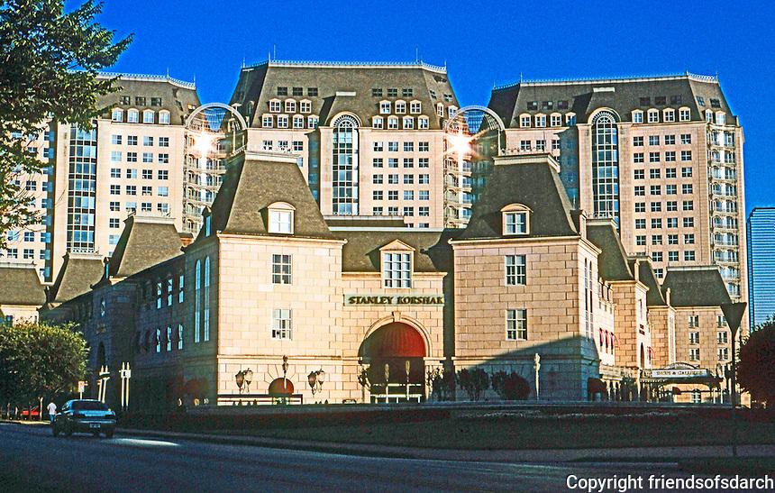 Dallas:  Crescent Court. Philip Johnson's Louis X!V Louvre style.