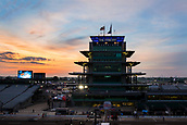May 28th Indianapolis Speedway, Indiana, USA;  A general view of The Panasonic Pagoda prior to sun rise before the running of the 101st Indianapolis 500 on May 28th, 2017 at the Indianapolis Motor Speedway in Indianapolis, IN.