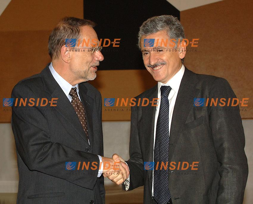 Roma, 05/10/2006 Incontro tra il Ministro D'Alema e l'Alto Rappresentante per la Politica Estera e di Sicurezza Comune (PESC), Javier Solana.<br /> Photo Samantha Zucchi INSIDE