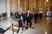 Family of the late Supreme Court Justice John Paul Stevens arrive for a private ceremony in the Great Hall of the Supreme Court in Washington, Monday, July 22, 2019, where late Supreme Court Justice John Paul Stevens lies in repose. <br /> Credit: Andrew Harnik / Pool via CNP