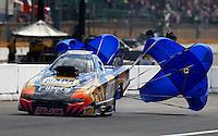 Aug. 4, 2013; Kent, WA, USA: NHRA top alcohol funny car driver John Lombardo Jr during the Northwest Nationals at Pacific Raceways. Mandatory Credit: Mark J. Rebilas-USA TODAY Sports