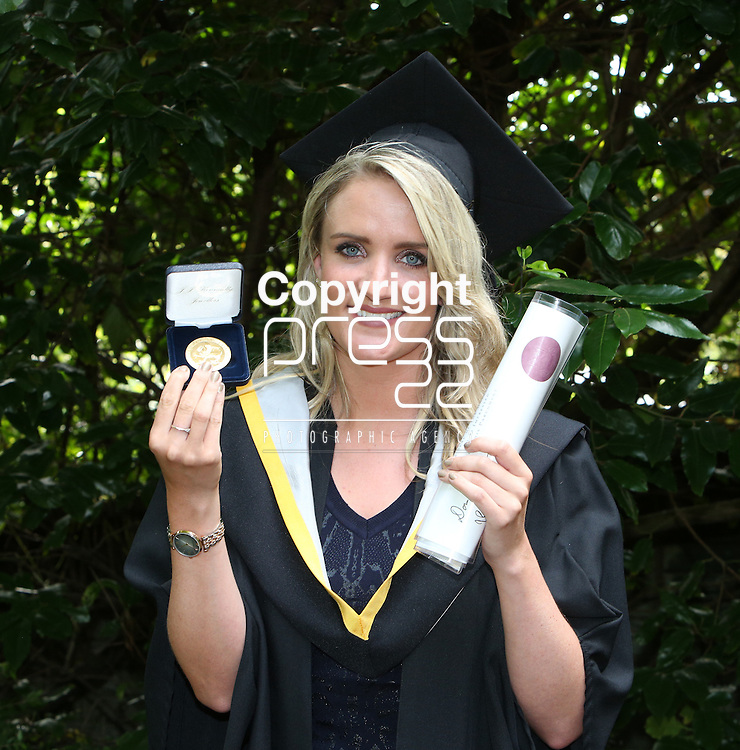 Attending the University of Limerick conferring was Orla Punch, Patrickswell, Co. Limerick conferred with a Bachelor of Architure and and winner of the Gold Medal for Joint First Place Overall, Class of 2015.   Photograph Liam Burke/Press 22
