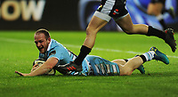 Glasgow Warriors' Nick Grigg scores his sides fourth try<br /> <br /> Photographer Kevin Barnes/CameraSport<br /> <br /> Guinness Pro14 Round 8 - Ospreys v Glasgow Warriors - Friday 2nd November 2018 - Liberty Stadium - Swansea<br /> <br /> World Copyright &copy; 2018 CameraSport. All rights reserved. 43 Linden Ave. Countesthorpe. Leicester. England. LE8 5PG - Tel: +44 (0) 116 277 4147 - admin@camerasport.com - www.camerasport.com