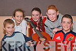 BALLADS: Playing ballads at Sco?r na bPa?isti? in Firies Community hall on Sunday were l-r: Michael O'Shea, Una Gleeson, Brid Kissane, Darren Quinn and Denis Kerrisk.   Copyright Kerry's Eye 2008