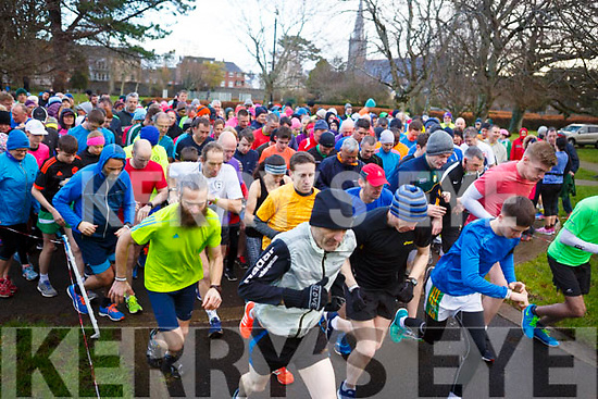 Runners are off, race is on at the Tralee Parkrun's 3rd birthday run in the Tralee town park on Saturday morning last.