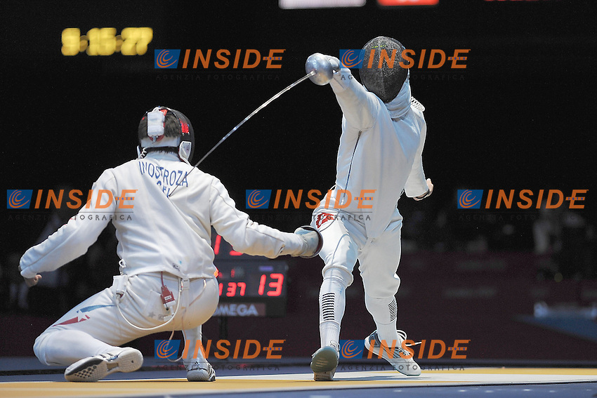 sx INOSTROZA BUDINICH Paris (CHI) vs HEINZER Max (SUI)  spada.Londra 01/08/2012 .Olympic Games London 2012.Olimpiadi Londra 2012.Foto Giovanni Minozzi / Insidefoto