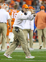 Charlotte, NC - December 2, 2017: Clemson Tigers head coach Dabo Swinney during the ACC championship game between Miami and Clemson at Bank of America Stadium in Charlotte, NC.  (Photo by Elliott Brown/Media Images International) Clemson defeated Miami 38-3 for their third consecutive championship title.