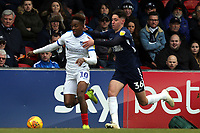 Jamal Lowe of Portsmouth and Isaac Hutchinson of Southend United during Southend United vs Portsmouth, Sky Bet EFL League 1 Football at Roots Hall on 16th February 2019