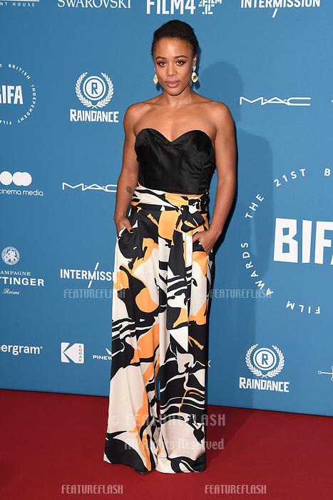LONDON, UK. December 02, 2018: Nina Toussaint White at the British Independent Film Awards 2018 at Old Billingsgate, London.<br /> Picture: Steve Vas/Featureflash