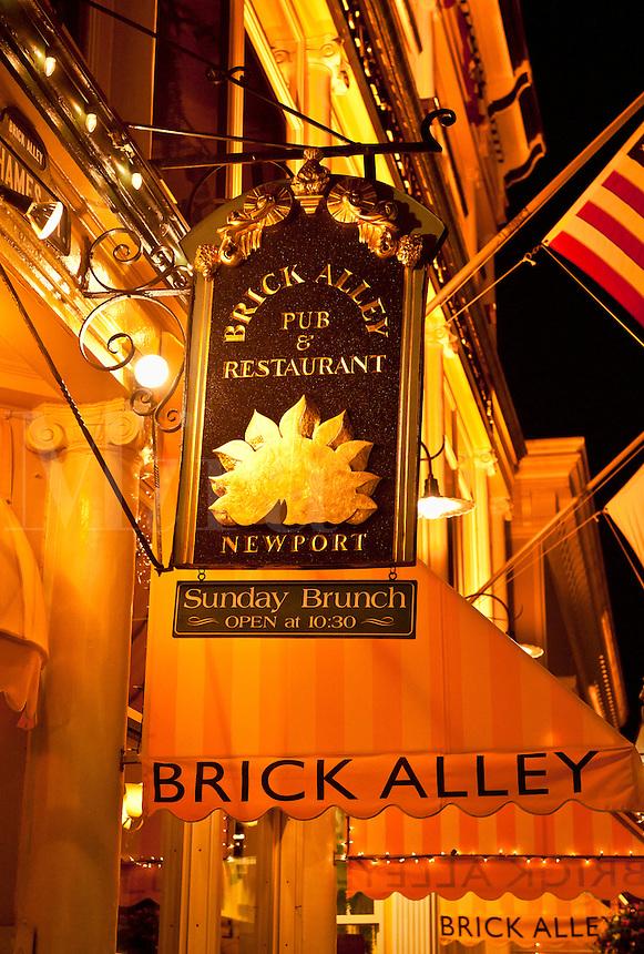 Brick Alley restaurant, Newport, Rhode Island, RI