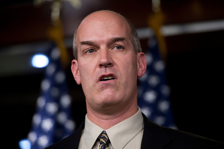 "UNITED STATES - NOVEMBER 15:  Rep. Rick Larsen, D-Wash., speaks at a news conference with members of the New Democratic Coalition in the Capitol Visitor Center on how to deal with the upcoming ""fiscal cliff.""  (Photo By Tom Williams/CQ Roll Call)"