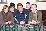 TEXAS HOLD EM: Announcing details of the 20,000 Texas Hold 'Em were Lucy Scollard, Dave Barry, Maurice McNamara, Trevor Houlihan and Charles Healy..