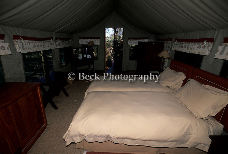 Living quarters at the Moremi Camp