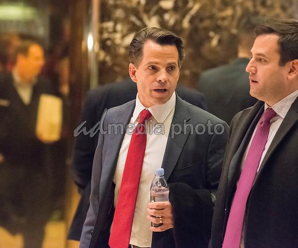 Trump finance advsor Anthony Scaramucci is seen in the lobby of Trump Tower in New York, NY, USA on December 14, 2016. Photo Credit: Albin Lohr-Jones/CNP/AdMedia