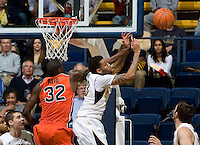 Allen Crabbe of California tries to steal a loose ball during the game against Oregon State Beavers at Haas Pavilion in Berkeley, California on January 31st, 2013.  California defeated Oregon State, 71-68.