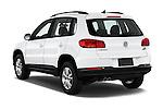 Car pictures of rear three quarter view of 2017 Volkswagen Tiguan S-4Motion 5 Door SUV Angular Rear