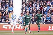 10th February 2019,  Estadio Municipal de Butarque, Leganes, Spain; La Liga football, Leganes versus Real Betis; Giovani lo Celso (Betis) breaks through midfield