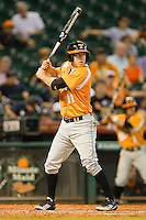 Zach Luther #11 of the Tennessee Volunteers at bat against the Houston Cougars at Minute Maid Park on March 2, 2012 in Houston, Texas.  The Cougars defeated the Volunteers 7-4.  (Brian Westerholt/Four Seam Images)