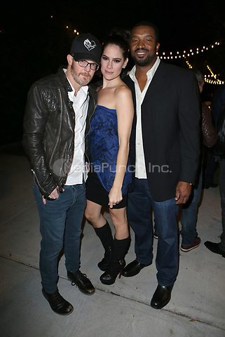 LOS ANGELES, CA - NOVEMBER 4: Jason Gray-Stanford, Tiffany Michelle, Roger Cross, at The 2017 Fluffball Benefiting Forgotten Horses Rescue! at The Lombardi House In Los Angeles, California on November 4, 2017. Credit: Faye Sadou/MediaPunch