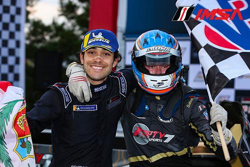 #47 Forty 7 Motorsports Norma M30, LMP3: Austin McCusker, Rodrigo Pflucker