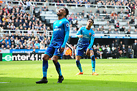 A dejected Joe Willock of Arsenal after missing a great chance in the first half during Newcastle United vs Arsenal, Premier League Football at St. James' Park on 15th April 2018