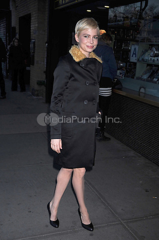 Michelle Williams at the film screening of 'Meek's Cutoff' at Landmark Sunshine Cinema on March 28, 2011 in New York City. Credit: Dennis Van Tine/MediaPunch