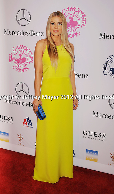 BEVERLY HILLS, CA - OCTOBER 20: Carmen Electra arrives at the 26th Anniversary Carousel Of Hope Ball presented by Mercedes-Benz at The Beverly Hilton Hotel on October 20, 2012 in Beverly Hills, California.