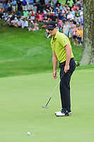 Zach Johnson (USA) barely misses his birdie putt on 18 during Sunday's final round of the World Golf Championships - Bridgestone Invitational, at the Firestone Country Club, Akron, Ohio. 8/6/2017.<br /> Picture: Golffile | Ken Murray<br /> <br /> <br /> All photo usage must carry mandatory copyright credit (&copy; Golffile | Ken Murray)