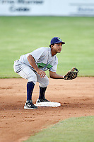 July 3, 2009:  Ernesto Manzanillo of the Jamestown Jammers in the field during a game at Dwyer Stadium in Batavia, NY.  The Jammers are the NY-Penn League Short-Season Class-A affiliate of the Florida Marlins.  Photo by:  Mike Janes/Four Seam Images