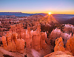 Bryce Canyon National Park, UT: Sunrise at Bryce Canyon Ampitheater from Sunrise Point