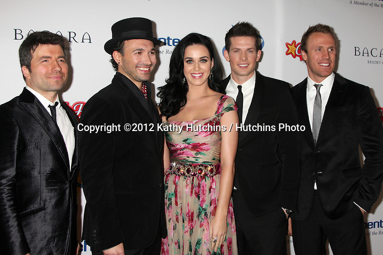 LOS ANGELES - NOV 16:  Katy Perry, The Tenors arrives for the 11th Annual Celebration of Dreams at Bacara Resort & Spa on November 16, 2012 in Santa Barbara, CA.  Katy Perry and Nigel Lithgoe are being honored with the Founder's.Humanitarian Award as part of Dream Foundation's Celebration of Dreams gala.at the Bacara Resort in Santa Barbara. Dream Foundation is a national.organization that serves the final wishes of adults ? and their families ?.facing life-threatening illness.