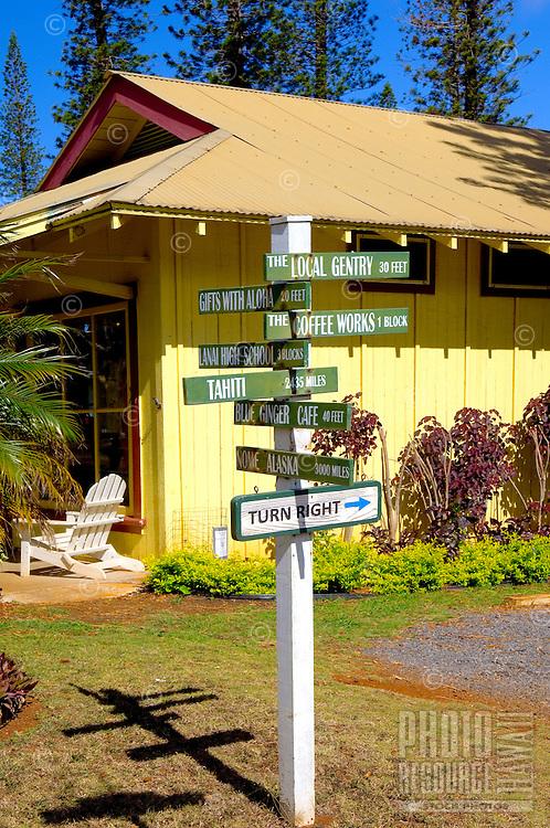 Direction Signs, Lanai City, Lanai, Hawaii