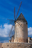 Spanien, Mallorca, Windmühle in Palma de Mallorca