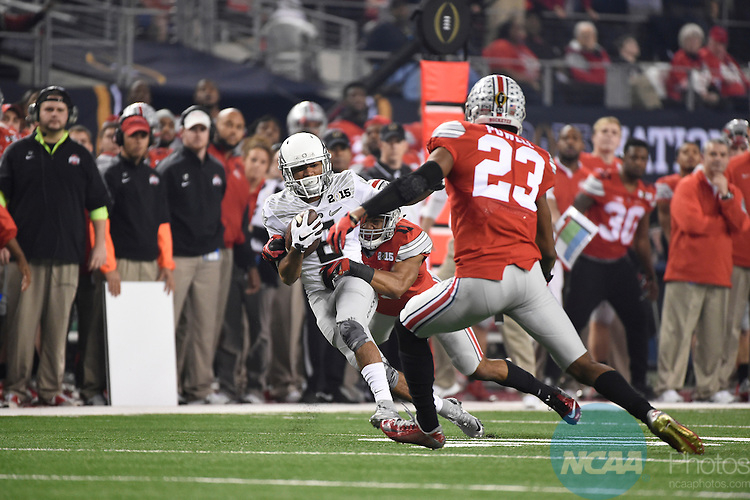 12 JAN 2015:  Charles Nelson (6) of the University of Oregon picks up a first down against the Ohio State University during the College Football Playoff National Championship held at AT&T Stadium in Arlington, TX.  Ohio State defeated Oregon 42-20 for the national title.  Jamie Schwaberow/NCAA Photos