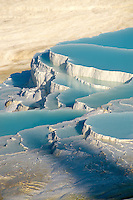 Photo & Image  of Pamukkale Travetine Terrace, Turkey. Images of the white Calcium carbonate rock formations. Buy as stock photos or as photo art prints. 4 Pamukkale travetine terrace water cascades, composed of white Calcium carbonate rock formations, Pamukkale, Anatolia, Turkey