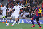 21.04.2015 Barceloona. UEFA Champions League, Quarter-finals 2nd leg. Picture show Javier Pastore in action during game between FC Barcelona against Paris Saint-Germain at Camp Nou