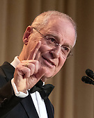 Historian and author Ron Chernow, the keynote speaker, delivers his remarks at the 2019 White House Correspondents Association Annual Dinner at the Washington Hilton Hotel on Saturday, April 27, 2019.<br /> Credit: Ron Sachs / CNP<br /> <br /> <br /> (RESTRICTION: NO New York or New Jersey Newspapers or newspapers within a 75 mile radius of New York City)