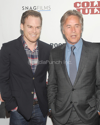 "New York, NY- May 21: Michael C. Hall and Don Johnson attend the Rooftop films ""Cold In July"" New York screening at IFC Theater on May 21, 2014 in New York City. Credit: John Palmer/MediaPunch"