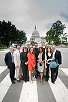The Creative Coalition in Washington, D.C. (L to R) Linus Roache, Matthew Settle, Robin Goldberg, Barry Levinson, Dana Delany, Alfre Woodard. Matthew Modine, Tom Fontana, Rachael Leigh Cook and Aric Ackerman.