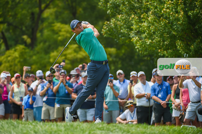 Rory McIlroy (NIR) watches his tee shot on 12 during 4th round of the 100th PGA Championship at Bellerive Country Club, St. Louis, Missouri. 8/12/2018.<br /> Picture: Golffile | Ken Murray<br /> <br /> All photo usage must carry mandatory copyright credit (© Golffile | Ken Murray)