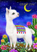 Kayomi, CUTE ANIMALS, LUSTIGE TIERE, ANIMALITOS DIVERTIDOS, paintings+++++,USKH294,#ac#, EVERYDAY,lama ,puzzle,puzzles