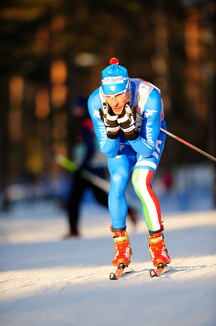 FALUN, SWEDEN - March 22: Giorgio di Centa of Italy (ITA)  during the Viessmann Men Prologue 3,3 km F ?King of Mördarbacken? at the FIS Cross country World Cup Final on March 22, 2013 in Falun, Sweden. (Photo by Dirk Markgraf)